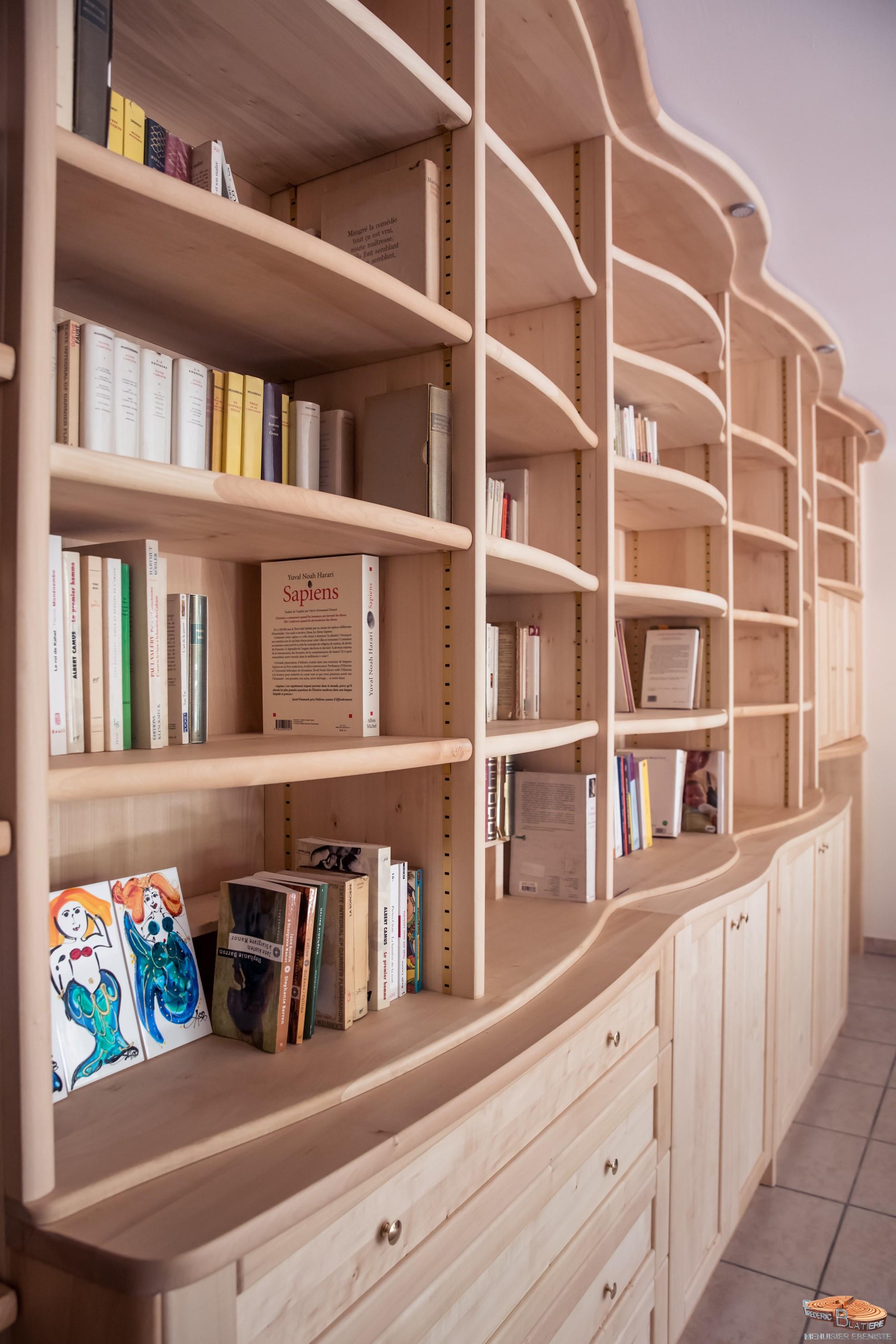 B Nisterie Fr D Ric Blatiere # Bibliotheque Meuble Salon